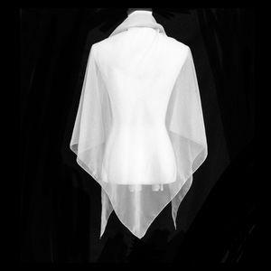 New White Chiffon Shawl Extra Large wedding scarf